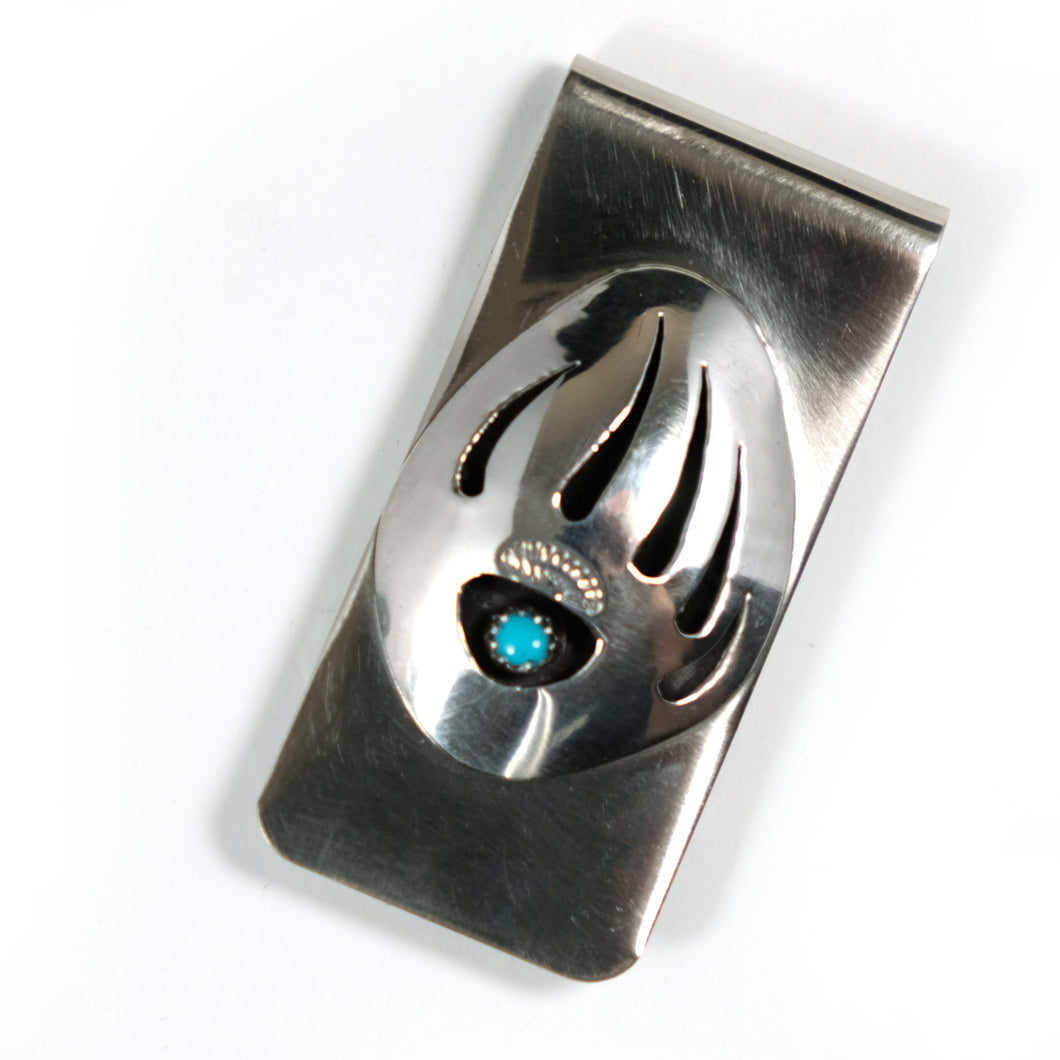 Turquoise Silver Money Clip