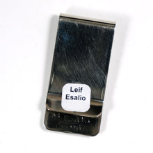 Zuni Inlay Sterling Silver Geometric Money Clip by LEIF ESALIO