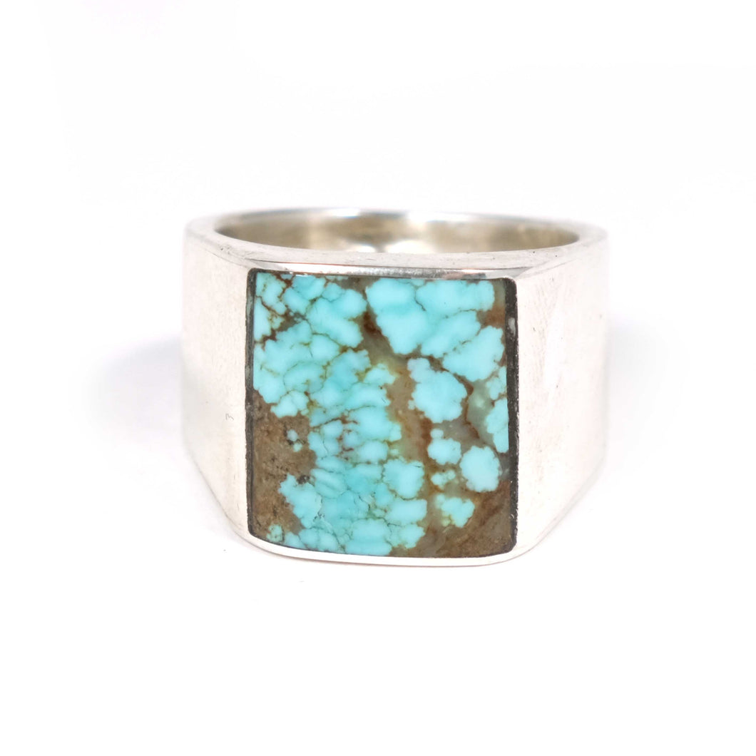 old pawn turquoise mens rings