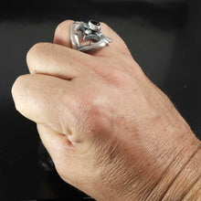 Mens Native American Silver Ring