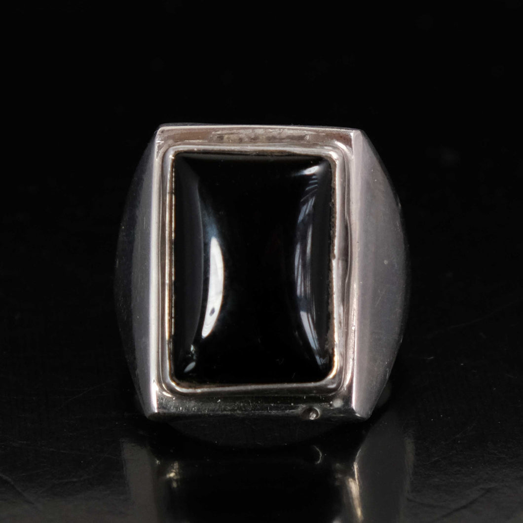 Black Onyx Mens Ring