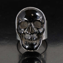 Carved Onyx Skull Ring