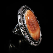 Spiny Oyster Ring Sterling Silver Navajo Womens by Eddie Secatero