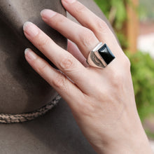Black Onyx Mens Navajo Ring