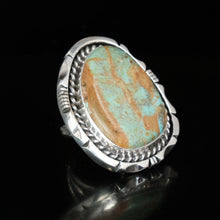 Navajo Sterling Silver and Turquoise Ring by Eddie Secatero