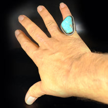 Morenci Turquoise Sterling Silver Native American Ring