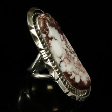 Large Wild Horse Statement Ring Native American Jewelry Navajo Vintage Silver