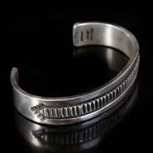 Womens Sterling Silver Native American Statement Cuff Bracelet