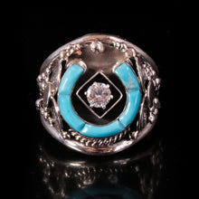Mens turquoise navajo ring
