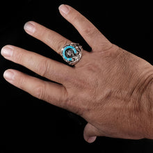 Huge Mens turquoise Ring