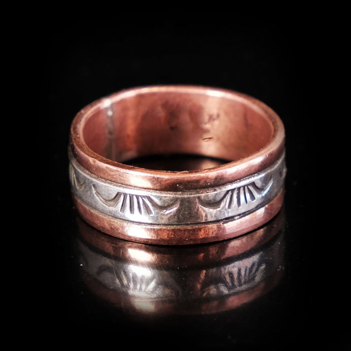 Copper and Silver Ring