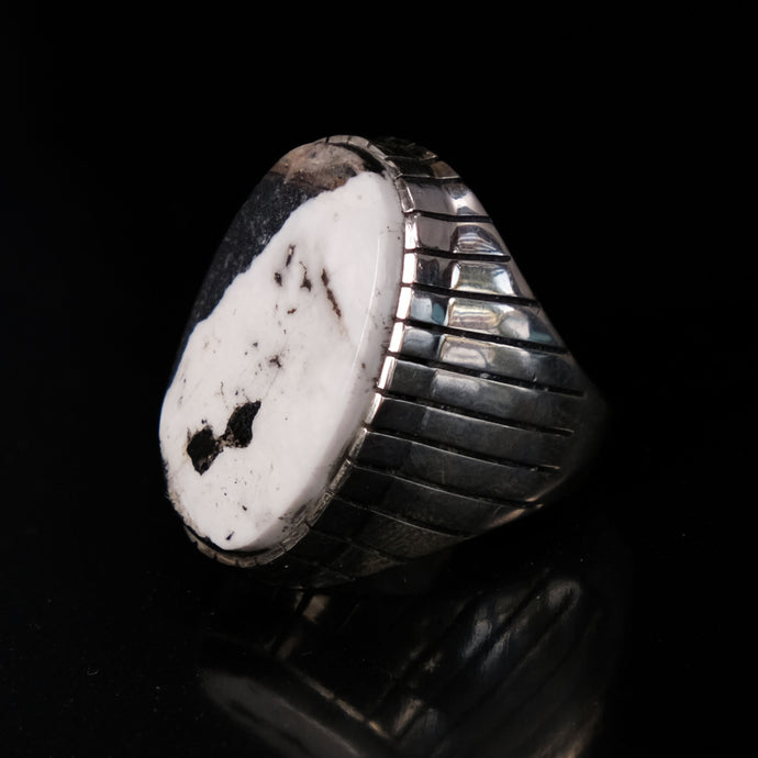 Mens White Buffalo Ring
