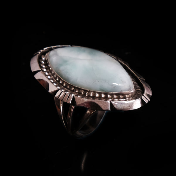 Eddie Secatero Wild Horse /& Sterling Silver Ring Size 8.25