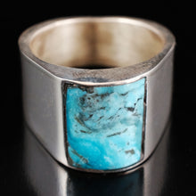 Large Mens Indian Turquoise Ring