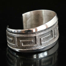 Tufa Cast Silver Navajo Cuff Old Pawn Style Bracelet
