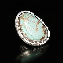 Sterling Silver Turquoise Navajo Ring by Eddie Secatero