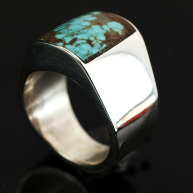 statement mens turquoise rings