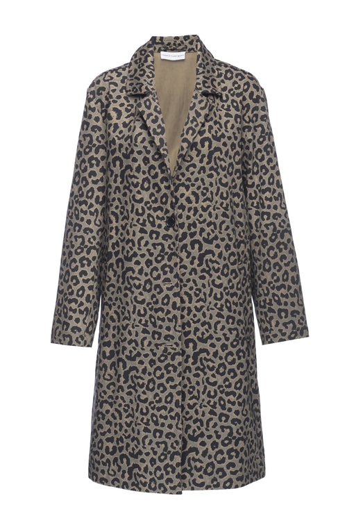 Robert Rodriguez Studio Leopard Print Coat. Spring 2017 Collection