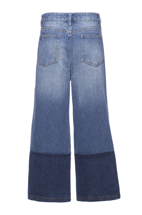 Robert Rodriguez Studio Two Tone Denim Gaucho Rear. Spring 2017 Collection.