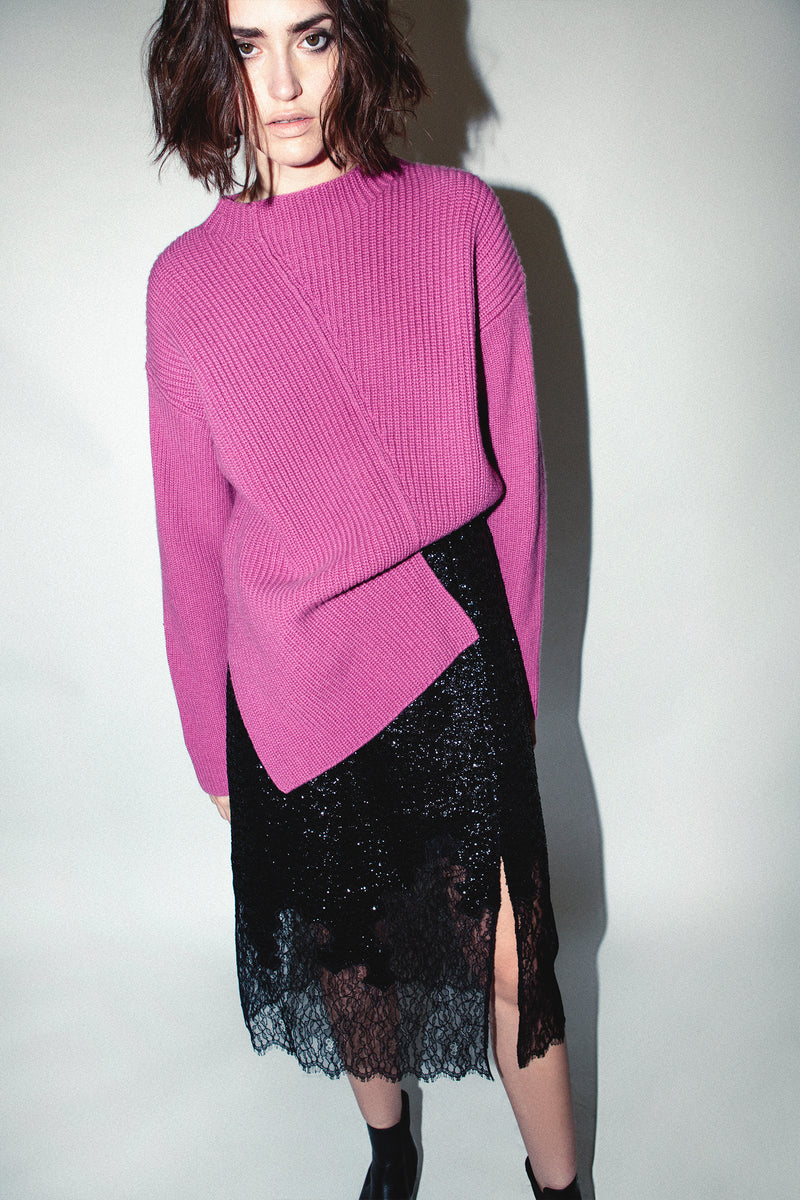 ASYM SWEATER, Knit - Robert Rodriguez Women's Fashion Collection