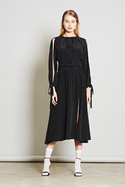 Robert Rodriguez Studio Resort 2018 Cold Shoulder Polka Dot Dress