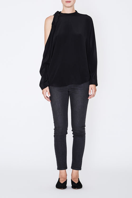 Robert Rodriguez Silk Cold Shoulder Blouse - Fall 2017