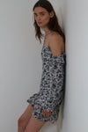 Robert Rodriguez Carmen Short Blue Ivory Floral Dress