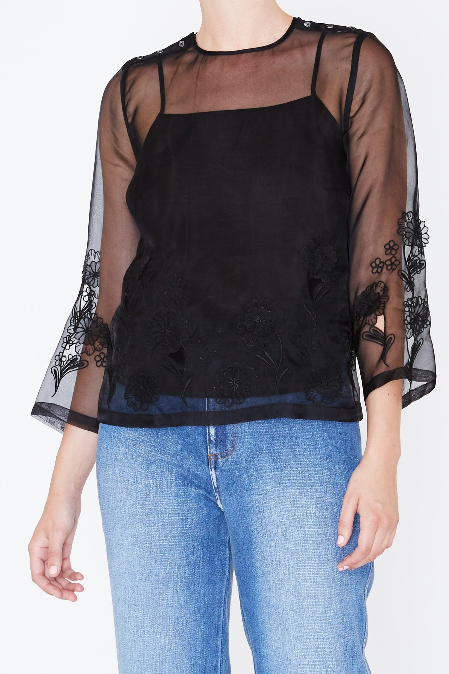 Robert Rodriguez Embroidered Top - Fall 2017