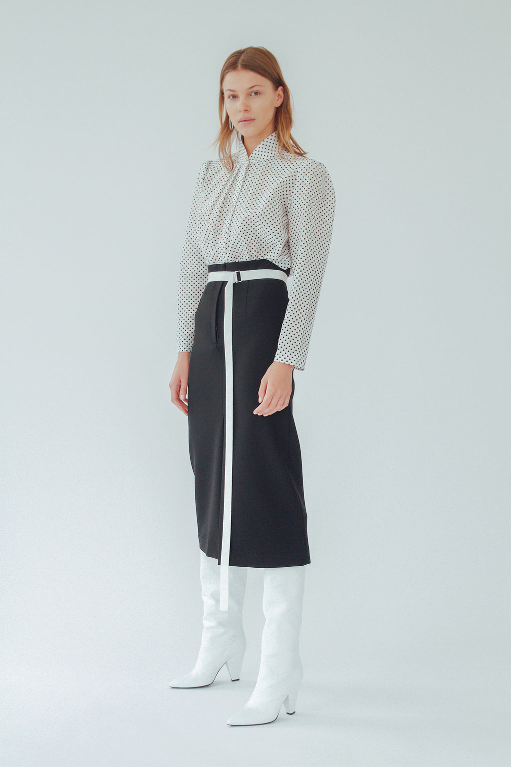 EVA SLIM SKIRT, Skirt - Robert Rodriguez Women's Fashion Collection