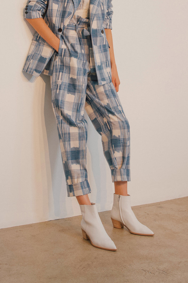 Robert Rodriguez Hollie Plaid Trouser
