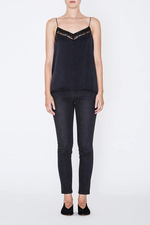 ROBERT RODRIGUEZ STUDIO LACE TRIM TOP