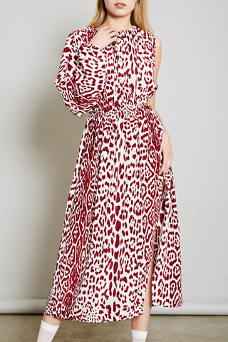 LENA LEOPARD WRAP DRESS