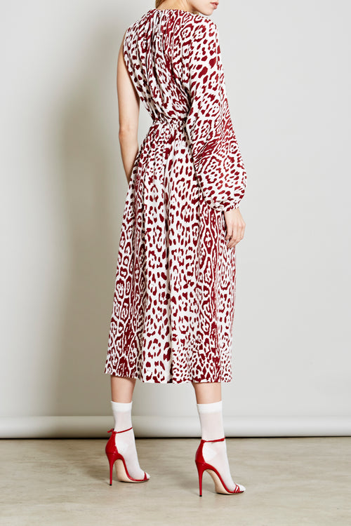 Robert Rodriguez Studio 2018 Leopard Print Silk Dress