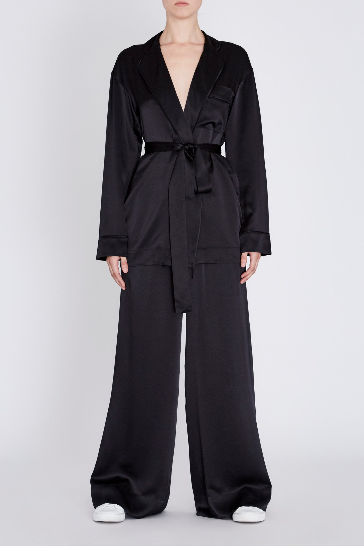 Robert Rodriguez Studio Wide Leg Satin Pant