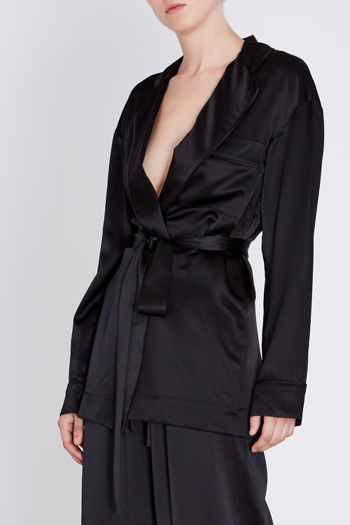Robert Rodriguez Studio Mid Length Satin Robe