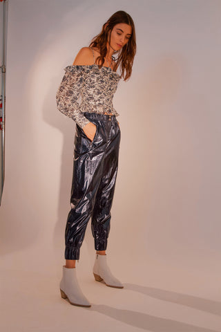 HOLLIE PLAID TROUSER
