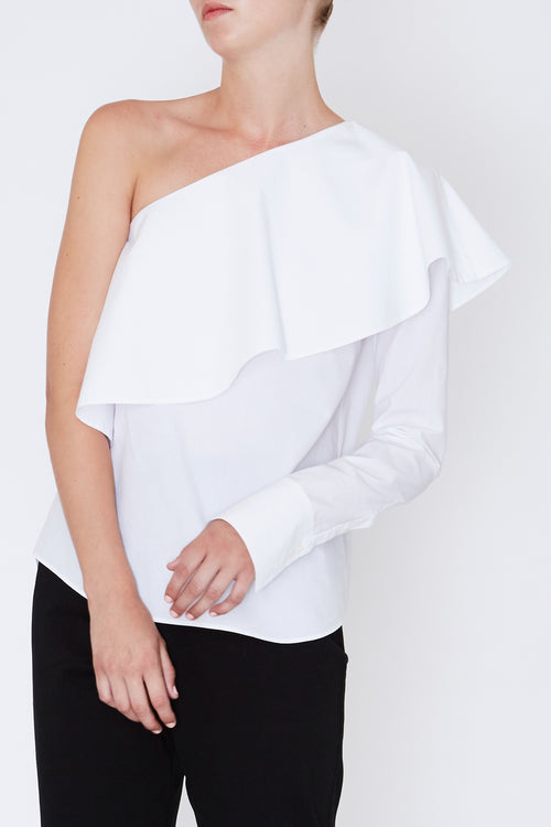 Robert Rodriguez - One Shoulder Ruffle Top - Fall 2017