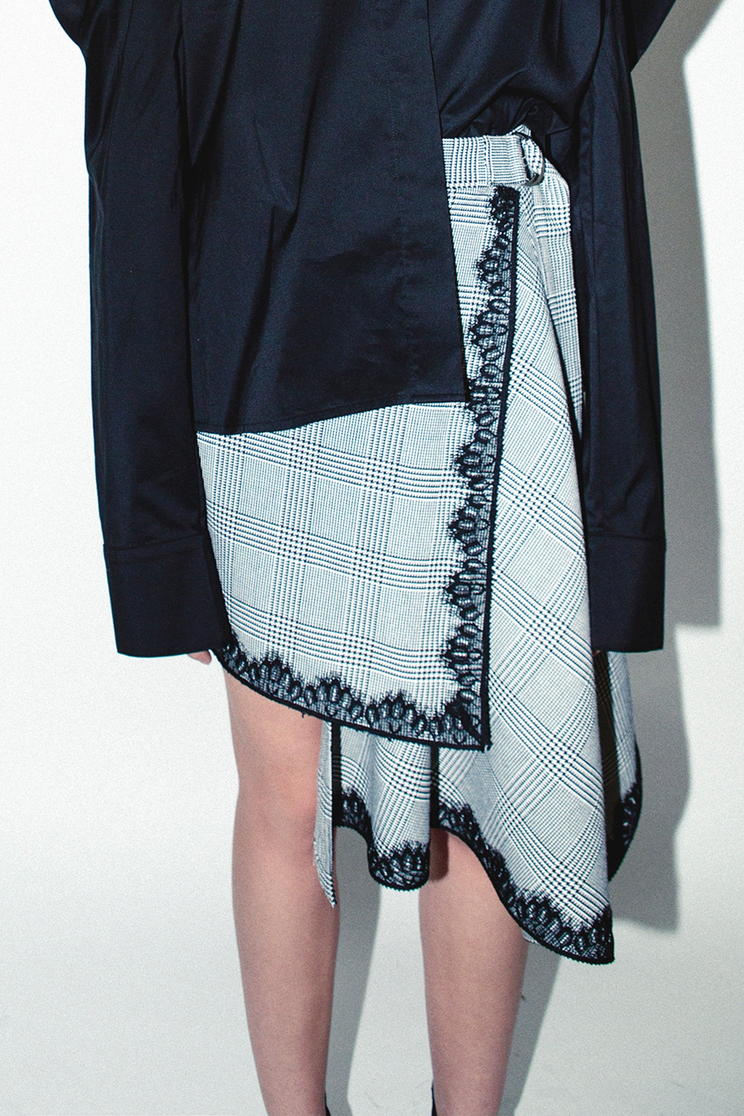 WRAP PLAID SKIRT
