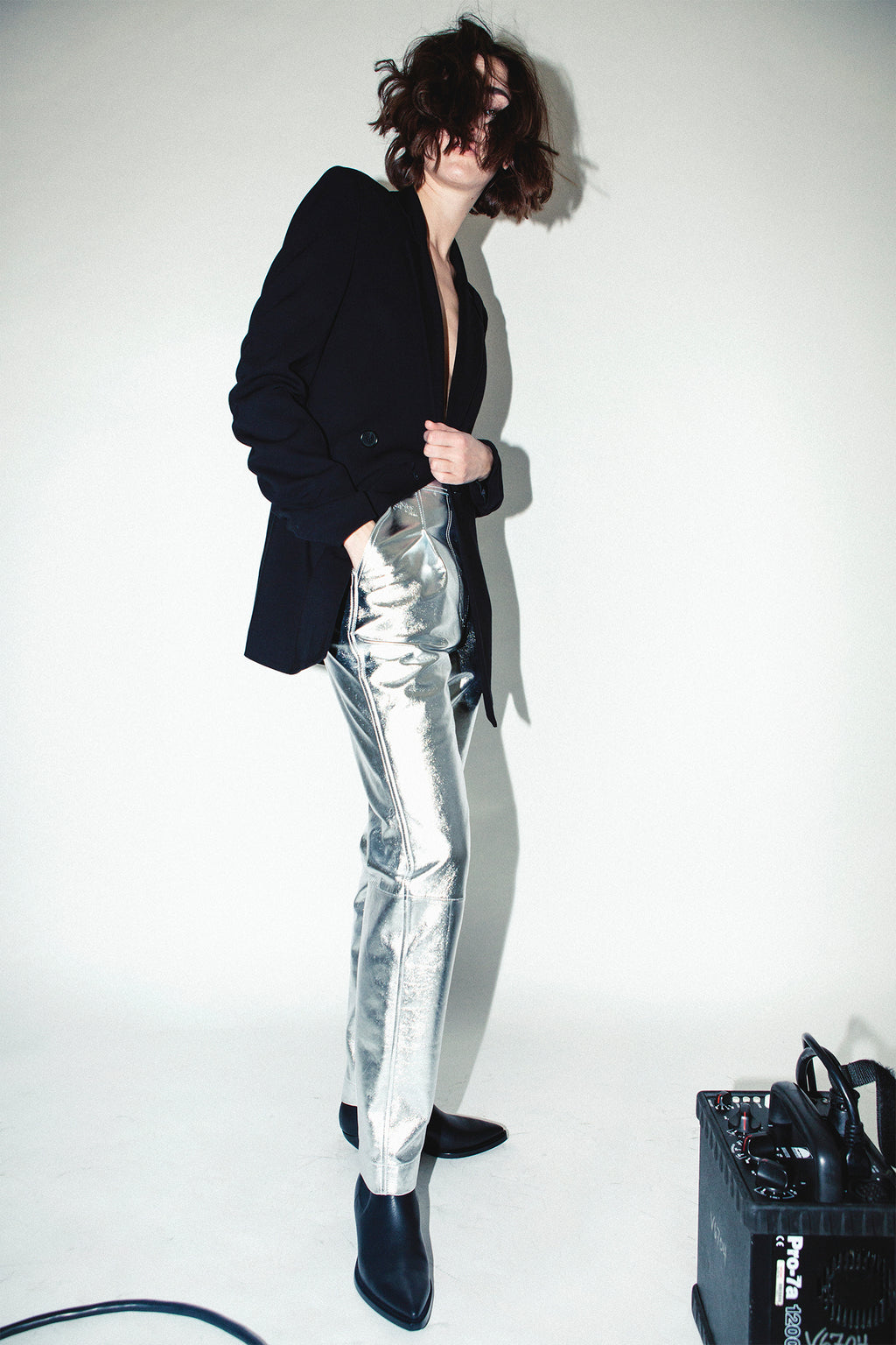 LEATHER TROUSER, Pants - Robert Rodriguez Women's Fashion Collection