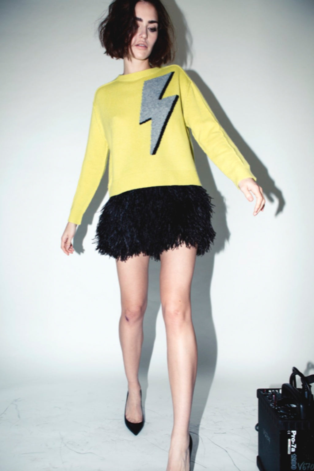 OSTRICH SKIRT, Skirt - Robert Rodriguez Women's Fashion Collection