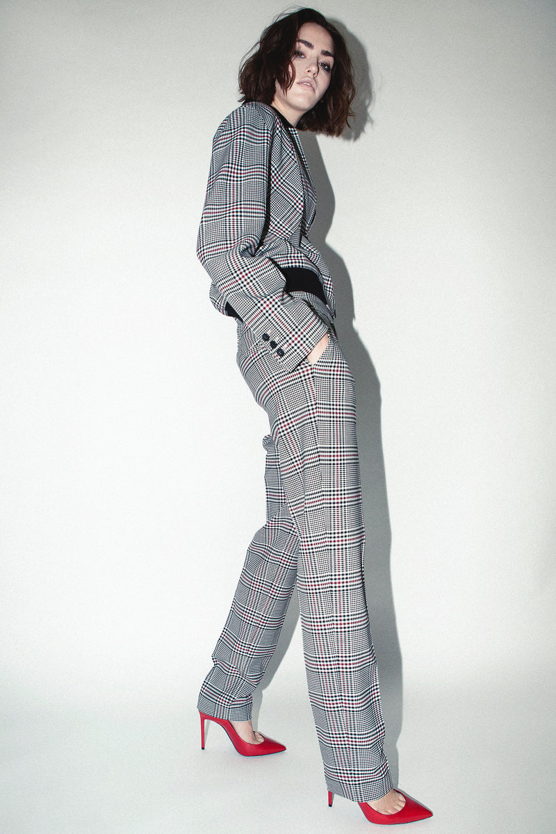 Robert Rodriguez Studio Plaid Slim Trouser