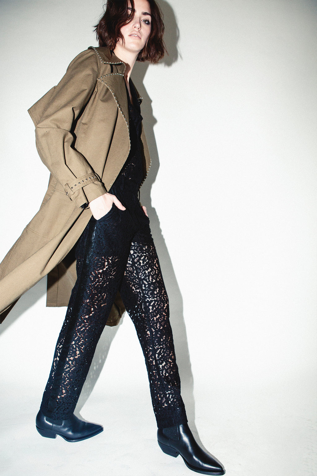 LACE TROUSER, Pants - Robert Rodriguez Women's Fashion Collection
