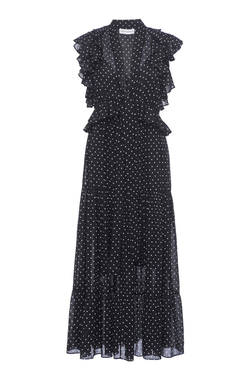 Robert Rodriguez Studio Polka Dot Long Dress. Spring 2017