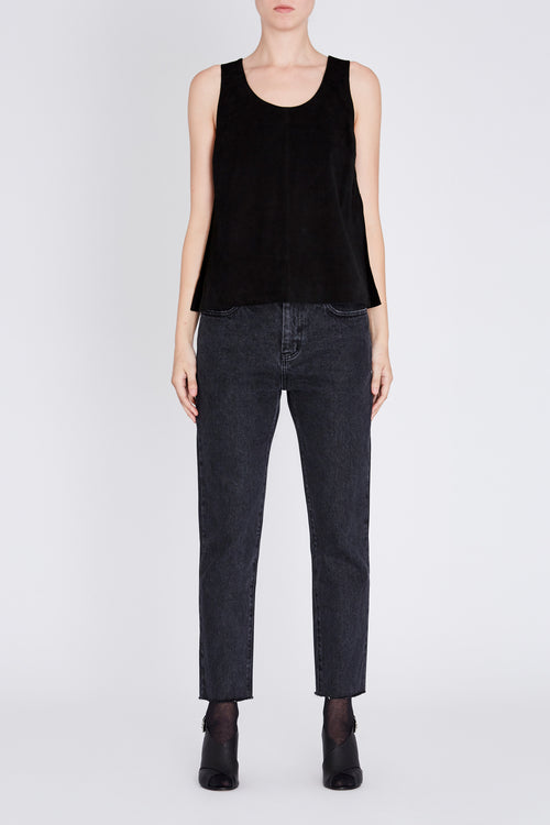 Robert Rodriguez Studio Side Slit Suede Top