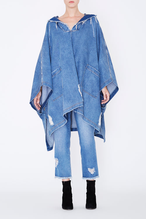 Robert Rodriguez - Soft Denim Hooded Cape - Fall 2017