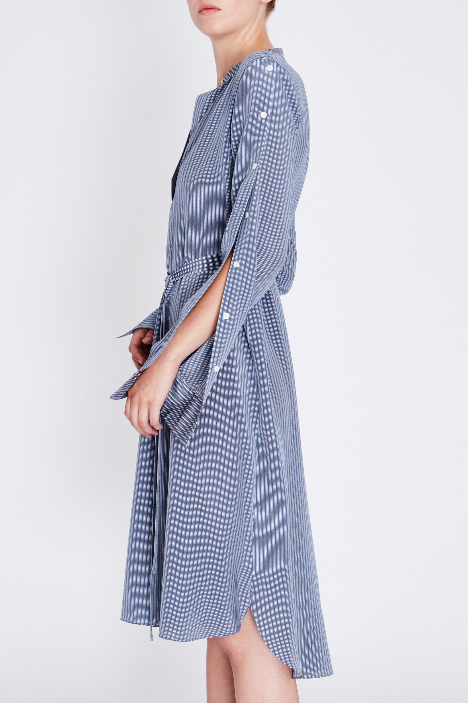Robert Rodriguez Studio Striped Shirt Dress