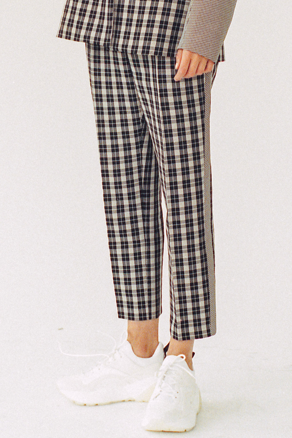 SOPHIA PLAID SKINNY TROUSER, Pants - Robert Rodriguez Women's Fashion Collection