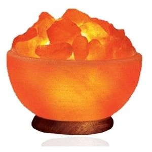 FIRE BOWL PINK HIMALAYAN SALT LAMP CRYSTAL