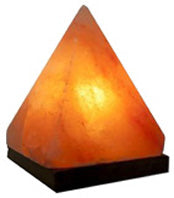 PYRAMID SHAPED PINK HIMALAYAN SALT LAMP CRYSTAL