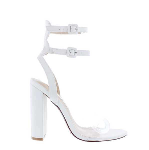7c794504104 All White Affair Block Heels – Shoe Appetique